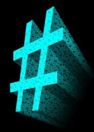 aqua-3d-hashtag-symbol-2